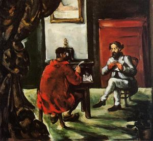Paul Cezanne - Paul Alexis Reading at Zola-s House
