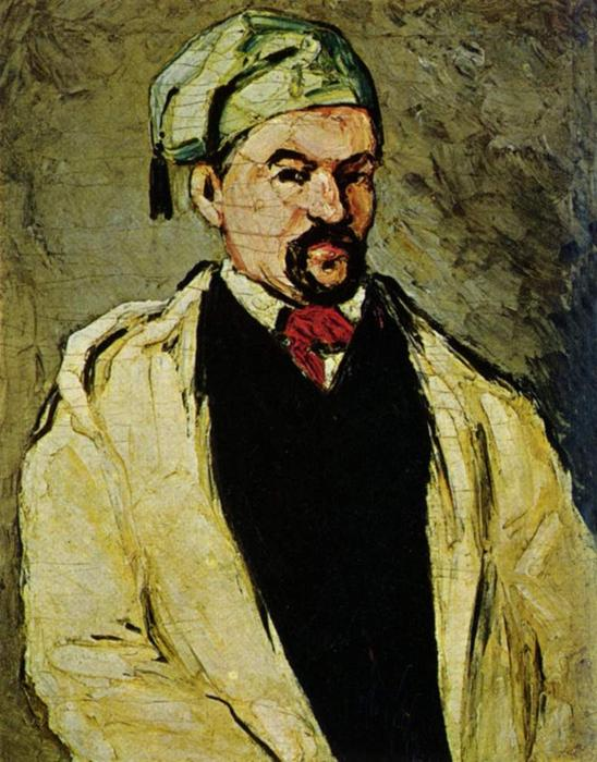 Portrait of a Man in a Blue Cap, or Uncle Dominique, 1866 by Paul Cezanne (1839-1906, France) | Reproductions Paul Cezanne | WahooArt.com