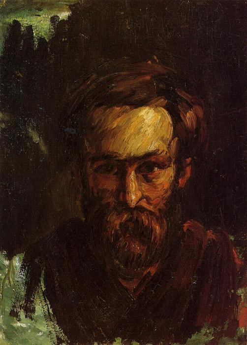 Order Art Reproductions | Portrait of a Man, 1866 by Paul Cezanne (1839-1906, France) | WahooArt.com