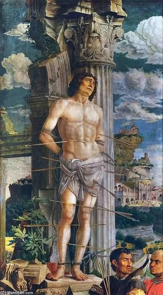St Sebastian, Oil On Canvas by Andrea Mantegna (1431-1506, Italy)