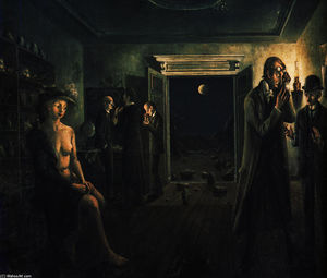 Paul Delvaux - Phases of the Moon II