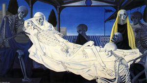 Paul Delvaux - The Deposition