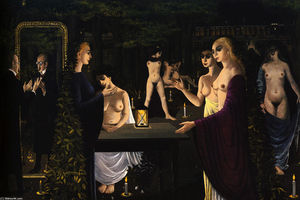 Paul Delvaux - The Sabbath