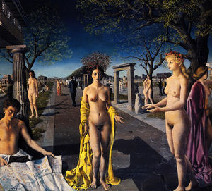 Paul Delvaux - The entrance to the city