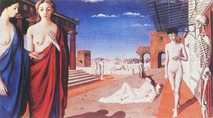 Paul Delvaux - Red city