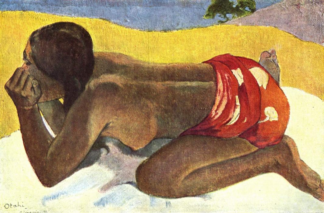 Alone, Oil On Canvas by Paul Gauguin (1848-1903, France)