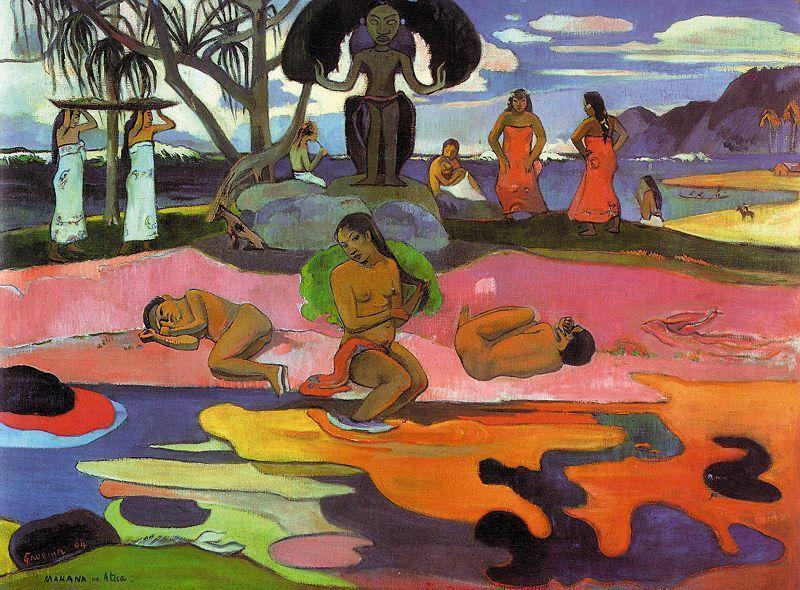 Day of the Gods, Oil On Canvas by Paul Gauguin (1848-1903, France)