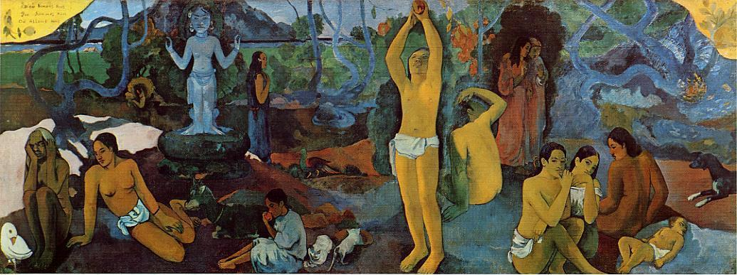 Where Do We Come From. What Are We. Where Are We Going., Oil On Canvas by Paul Gauguin (1848-1903, France)