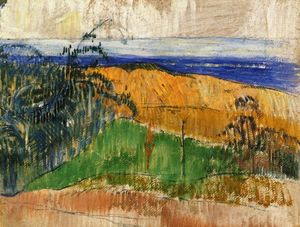 Paul Gauguin - View of the beach at Bellangenai