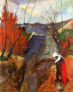 Paul Gauguin - Breton Woman with a Pitcher