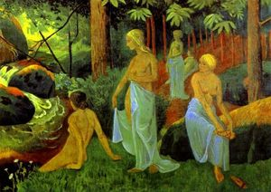 Paul Serusier - Bathers with White Veils