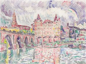 Paul Signac - The Look at Montauban in rain