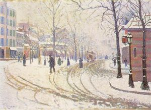 Paul Signac - Boulevard de Clichy 1886 - (Famous paintings)