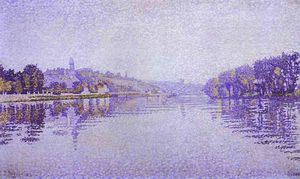 Paul Signac - River's Edge The Siene at Herblay