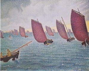 Paul Signac - Regatta in Concarneau