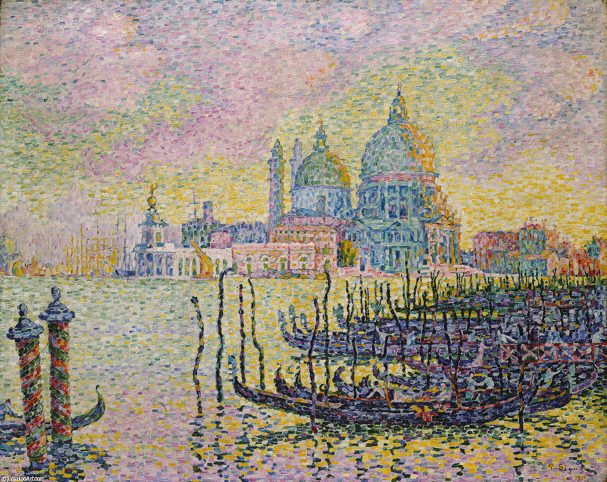 Grand Canal (Venise), 1905 by Paul Signac (1863-1935, France) | Museum Art Reproductions Paul Signac | WahooArt.com
