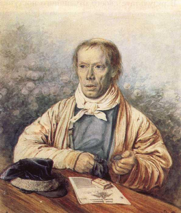 Portrait of A. I. Fedotov, the Artist's Father, 1837 by Pavel Fedotov (1815-1852)