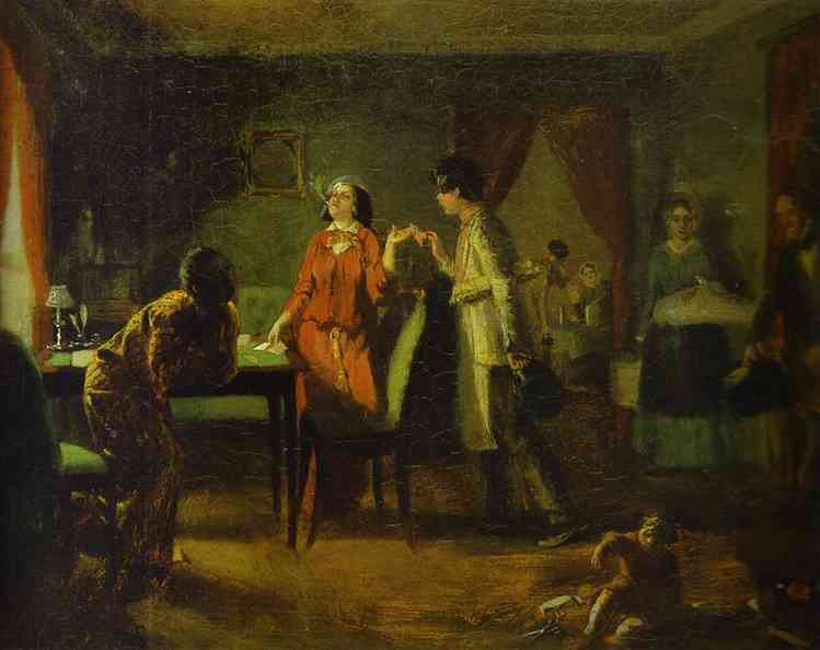 Fashionable Wife (Lioness), Oil by Pavel Fedotov (1815-1852)
