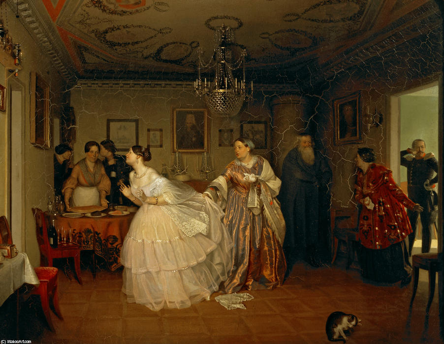 The Major's Marriage Proposal, 1851 by Pavel Fedotov (1815-1852)