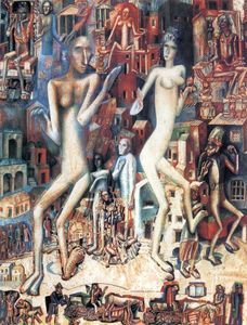 Pavel Filonov - Man and Woman (Adam and Eve)