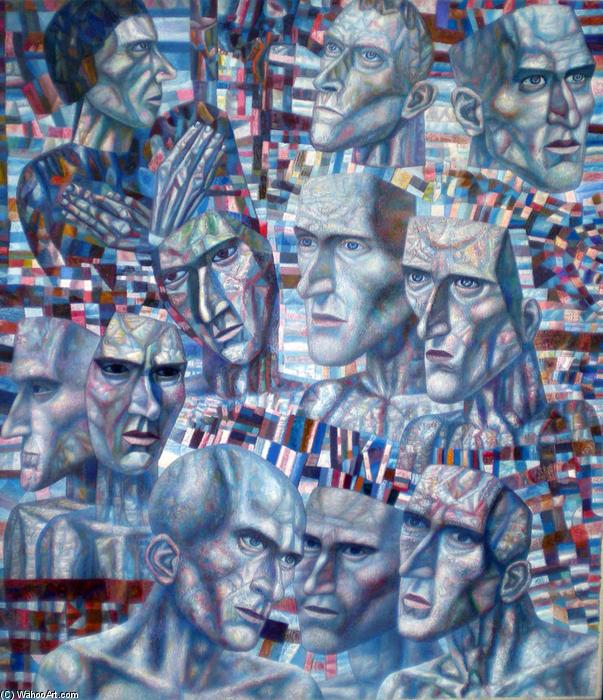 Eleven Heads, 1935 by Pavel Filonov (1883-1941, Russia) | Painting Copy | WahooArt.com
