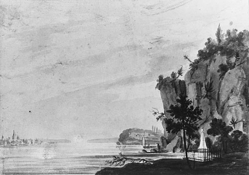 The Monument to Alexander Hamilton at Weehawken, 1812 by Pavel Svinyin
