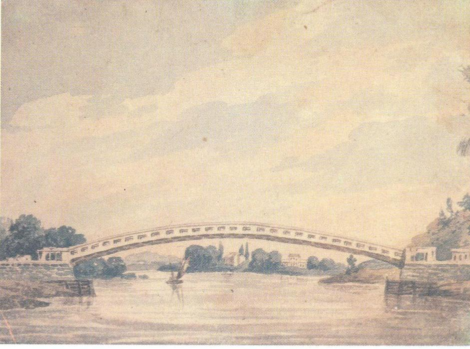 The Upper Bridge over the Schuylkill, 1812 by Pavel Svinyin