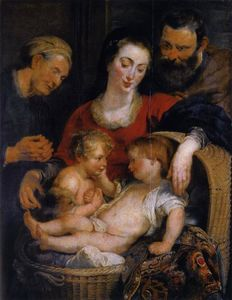 Peter Paul Rubens - The Holy Family with St. Elizabeth