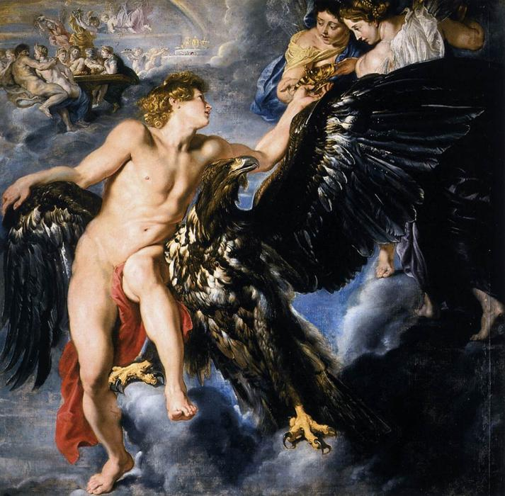 Order Art Reproductions | The Abduction of Ganymede, 1612 by Peter Paul Rubens (1577-1640, Germany) | WahooArt.com