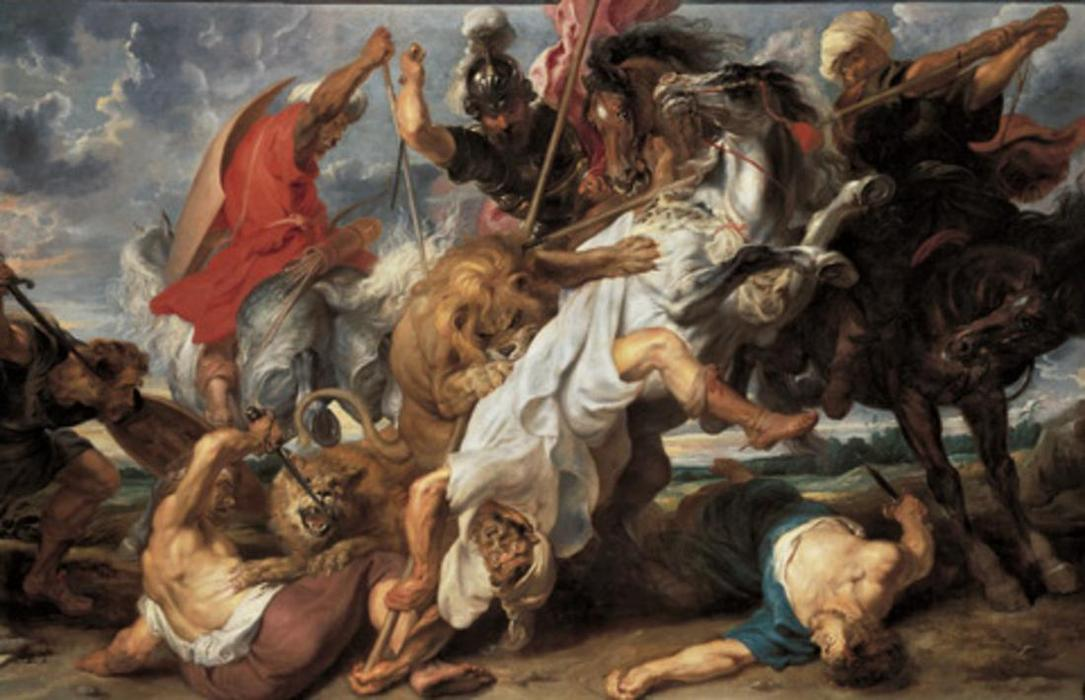 The Lion Hunt, Oil On Canvas by Peter Paul Rubens (1577-1640, Germany)
