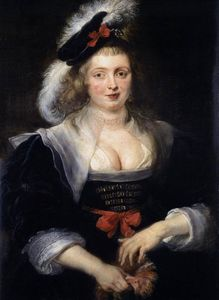 Peter Paul Rubens - Portrait of Helene Fourment with Gloves