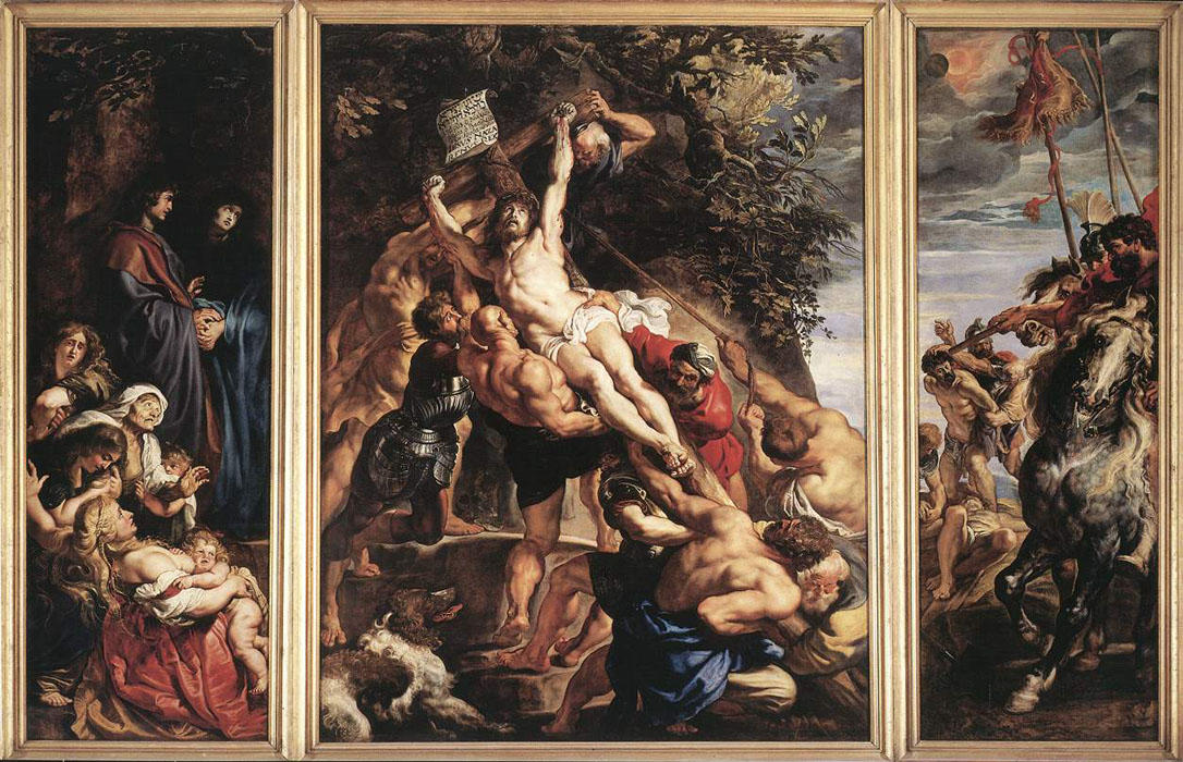 Order Art Reproductions | The Elevation of the Cross, 1610 by Peter Paul Rubens (1577-1640, Germany) | WahooArt.com