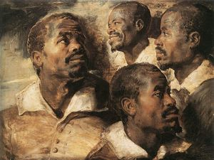 Peter Paul Rubens - Studies of the Head of a Negro