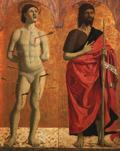 Piero Della Francesca - St. Sebastian and John the Baptist