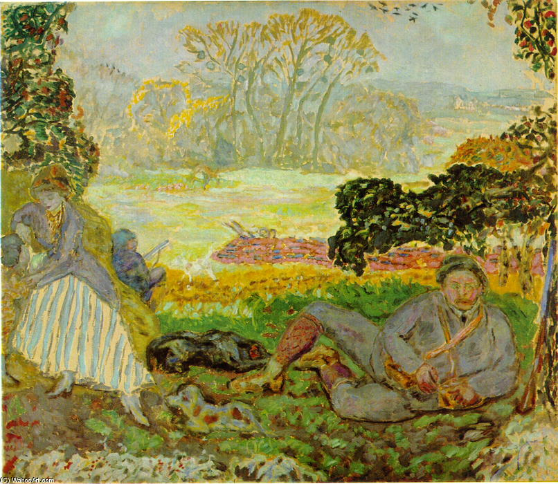 Jakten, 1915 by Pierre Bonnard (1867-1947, France)