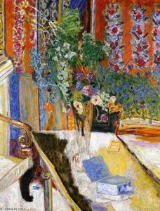 Pierre Bonnard - Interior with Flowers