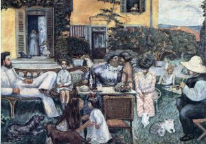 Pierre Bonnard - The Bourgeois Afternoon or The Terrasse Family