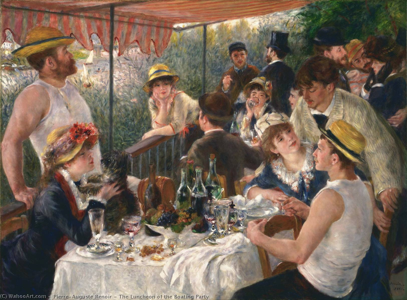 The Luncheon of the Boating Party, Oil On Canvas by Pierre-Auguste Renoir (1841-1919, France)