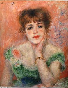 Pierre-Auguste Renoir - Jeanne Samary in a Low Necked Dress