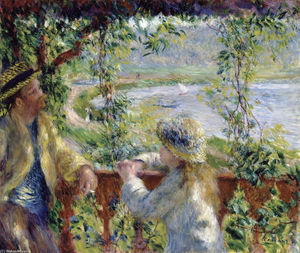 Pierre-Auguste Renoir - By the Water (Near the Lake)