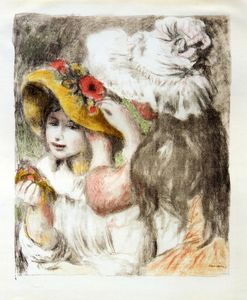 Order Paintings Reproductions | The Hatpin, 1898 by Pierre-Auguste Renoir (1841-1919, France) | WahooArt.com