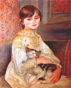 Pierre-Auguste Renoir - Child with cat (julie manet)