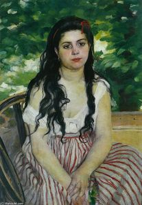 Pierre-Auguste Renoir - In summer (The Gypsy)
