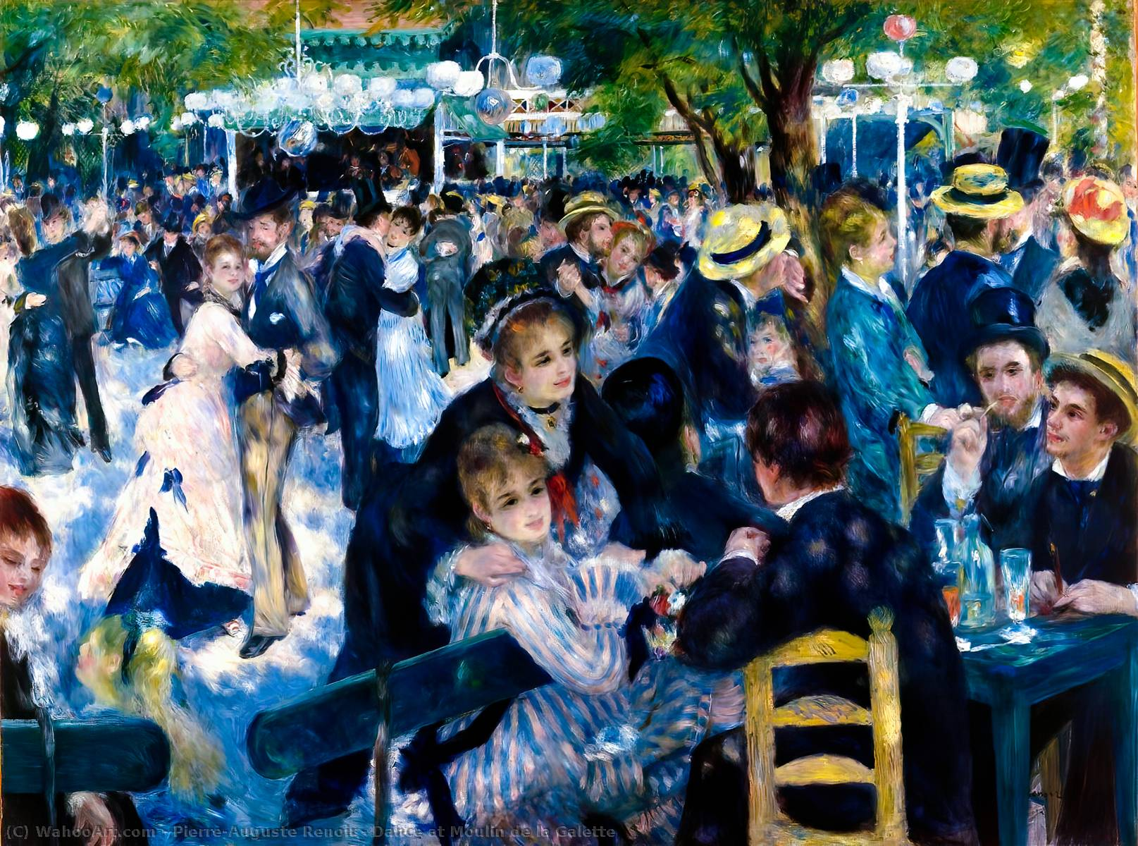 Dance at Moulin de la Galette, 1876 by Pierre-Auguste Renoir (1841-1919, France) | Art Reproduction | WahooArt.com