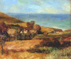 Pierre-Auguste Renoir - View of the normandy coast near wargemont