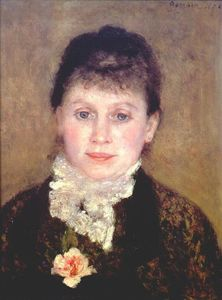 Pierre-Auguste Renoir - Woman with a white jabot