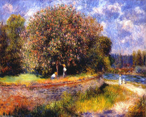Pierre-Auguste Renoir - Chestnut Tree Blooming
