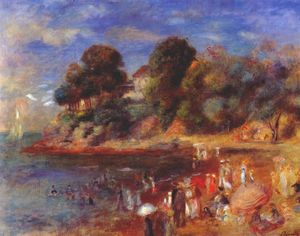 Pierre-Auguste Renoir - The beach at pornic