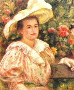 Pierre-Auguste Renoir - Lady with white hat