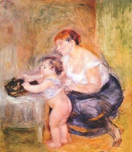 Pierre-Auguste Renoir - Mother and child